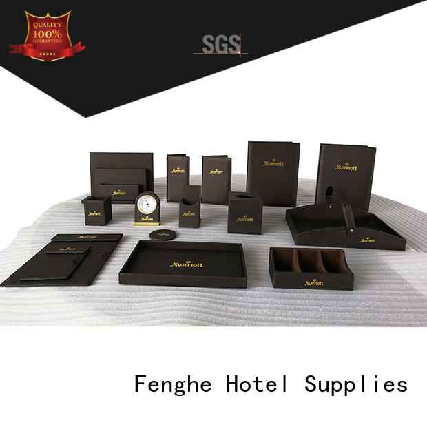 amenities box logo products leather storage bin Fenghe Brand