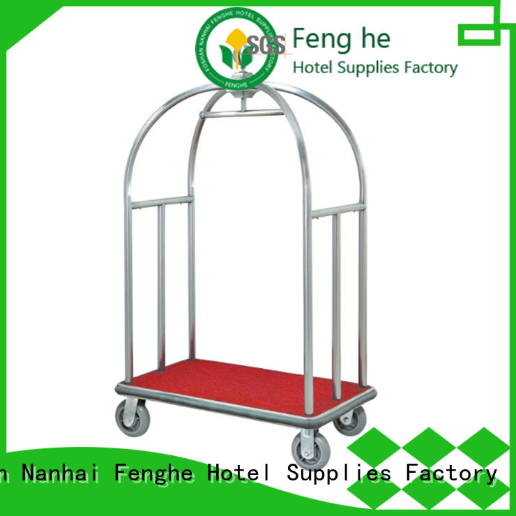 Foshan metal luggage cart source now for motel