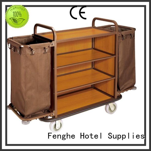 fireproof Custom customer cart hotel housekeeping trolley Fenghe laundry