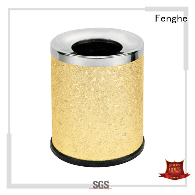 Fenghe Brand steel stainless dustbin stainless steel trash can layer