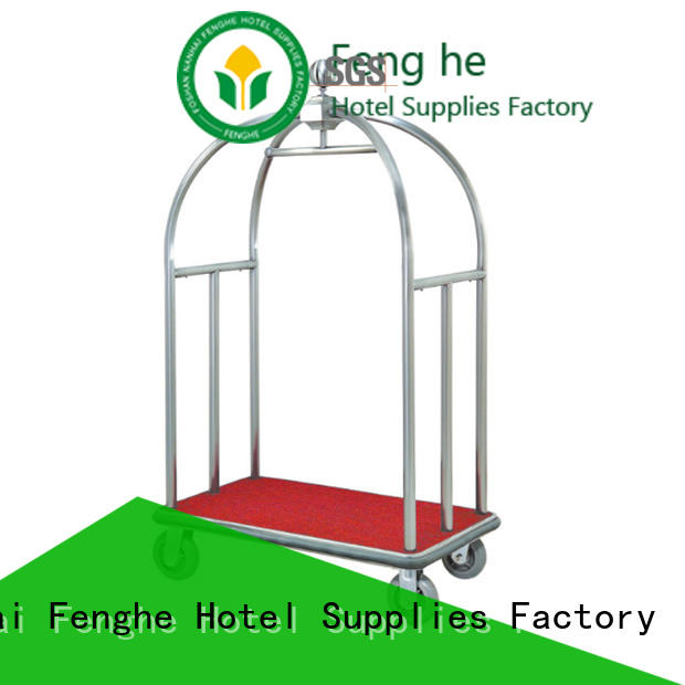 Fenghe high reliability hotel style luggage cart overseas trader for gym