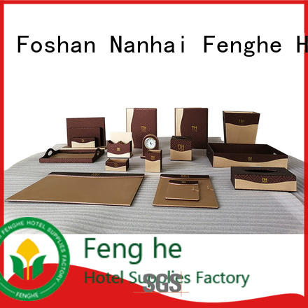 room accessories folder logo leather folder Fenghe