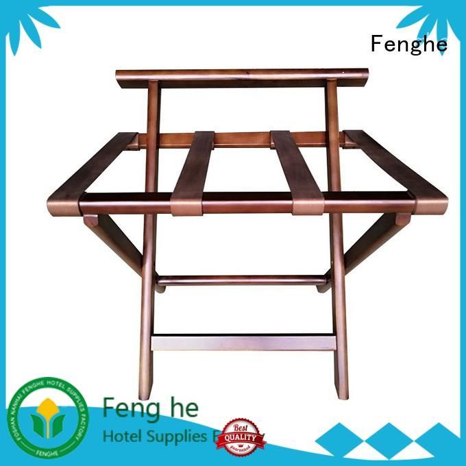 metal back bedroom Fenghe Brand luggage rack for hotel room factory
