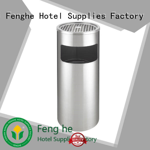 Fenghe China stainless steel ashtray bin get latest price for sale