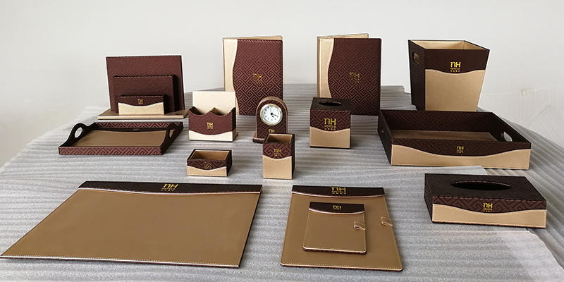 Fenghe-Bathroom Tray Manufacture | Customized Logo Hotel Leather Products,leather Folder