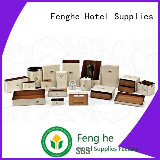 tissue box amenities leather folder customized Fenghe