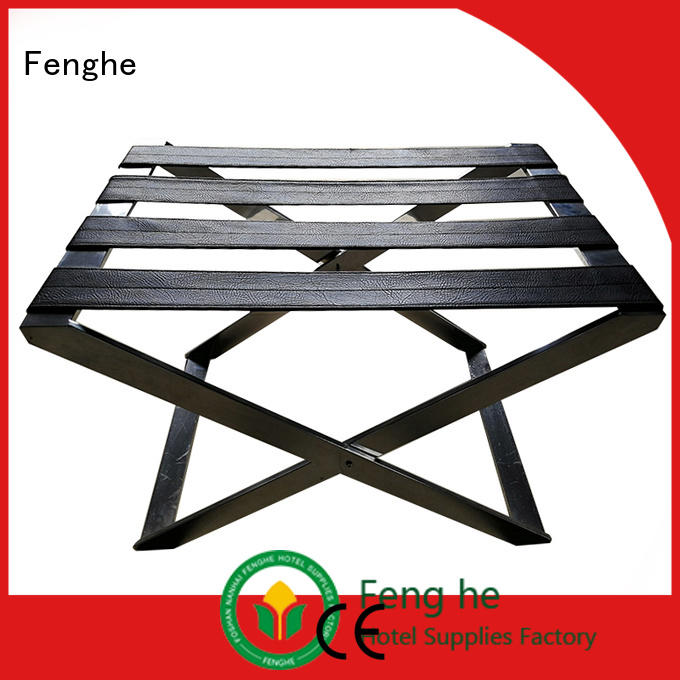 Quality Fenghe Brand luggage rack for hotel room wooden resort