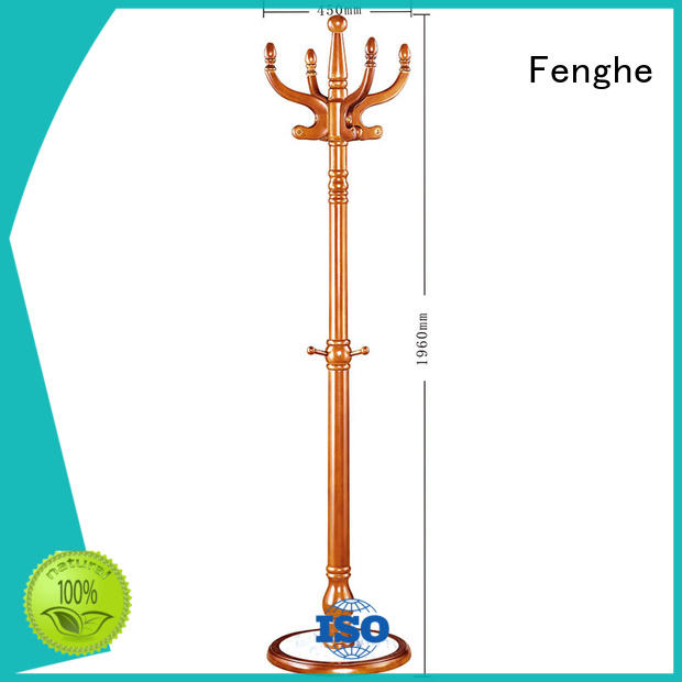 wood clothes Fenghe Brand wooden coat rack factory
