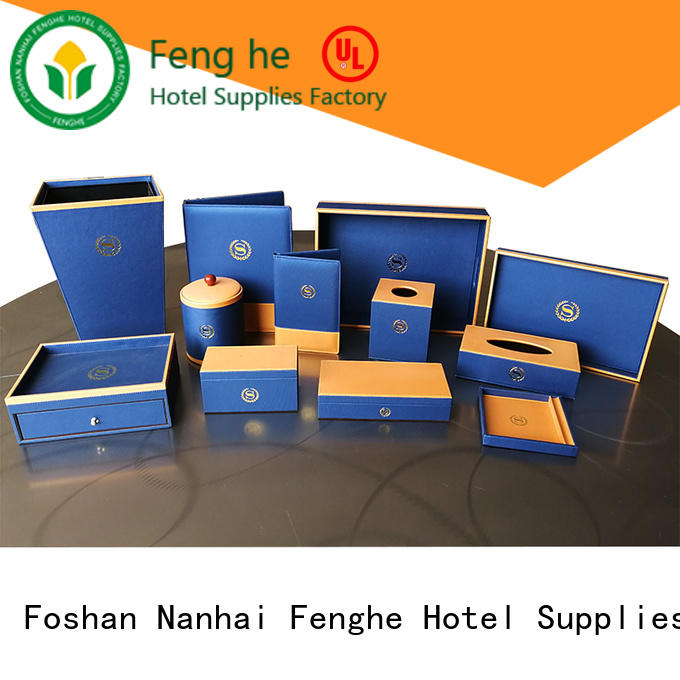 folderleather hotel amenity tray white for hotel Fenghe
