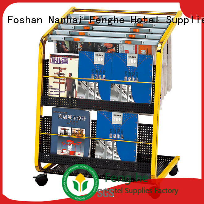Fenghe best quality newspaper stand for hotel factory for guest rooms