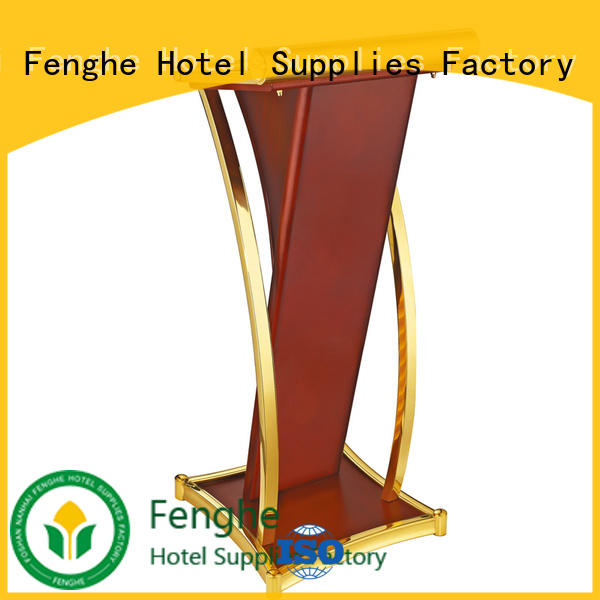 Fenghe wood stage rostrum source now for hotel industry