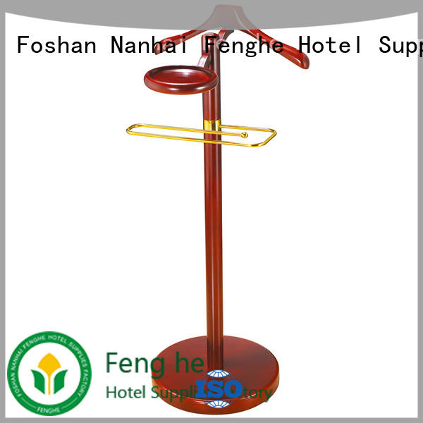 Fenghe low moq clothes hanger stand source now for conferences