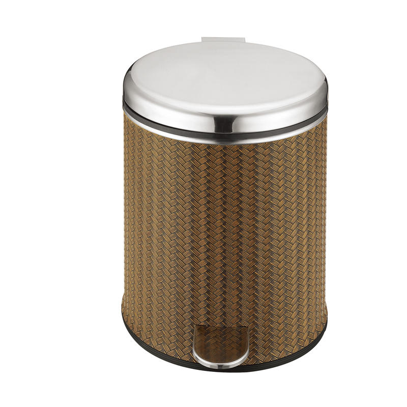 Various styles hotel 5L metal foot pedal dustbin trash can