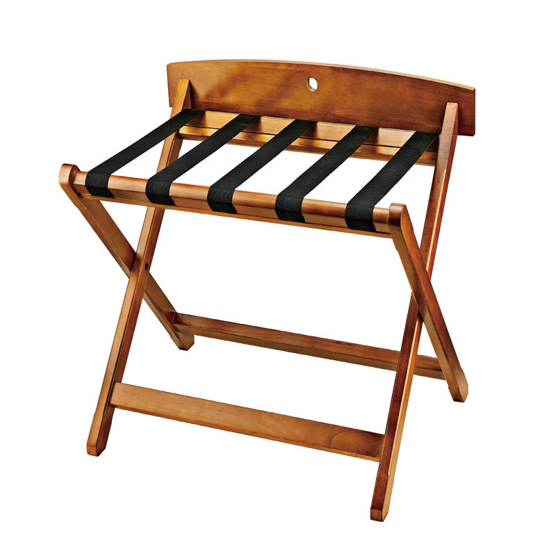 Solid wood folding straight leg luggage rack luggage stand