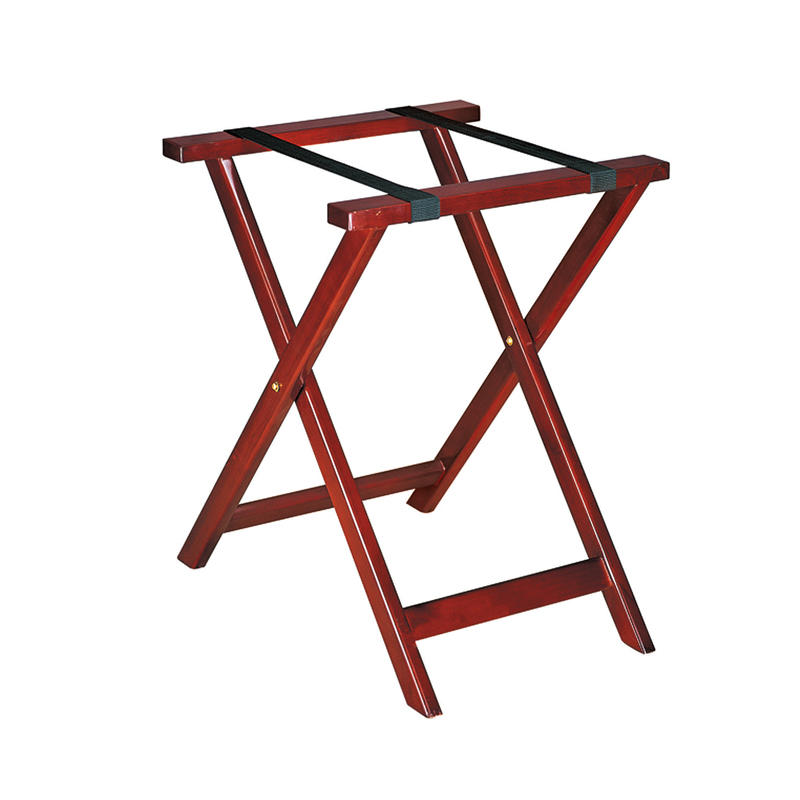 Wholesale hotel room wooden folding luggage stand luggage rack