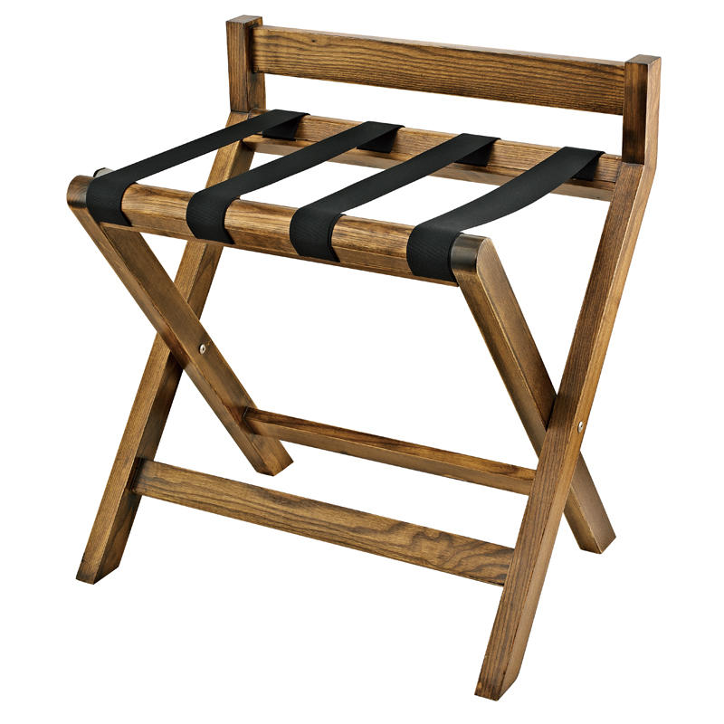 Customized modern wooden folding luggage stand luggage rack for guestroom