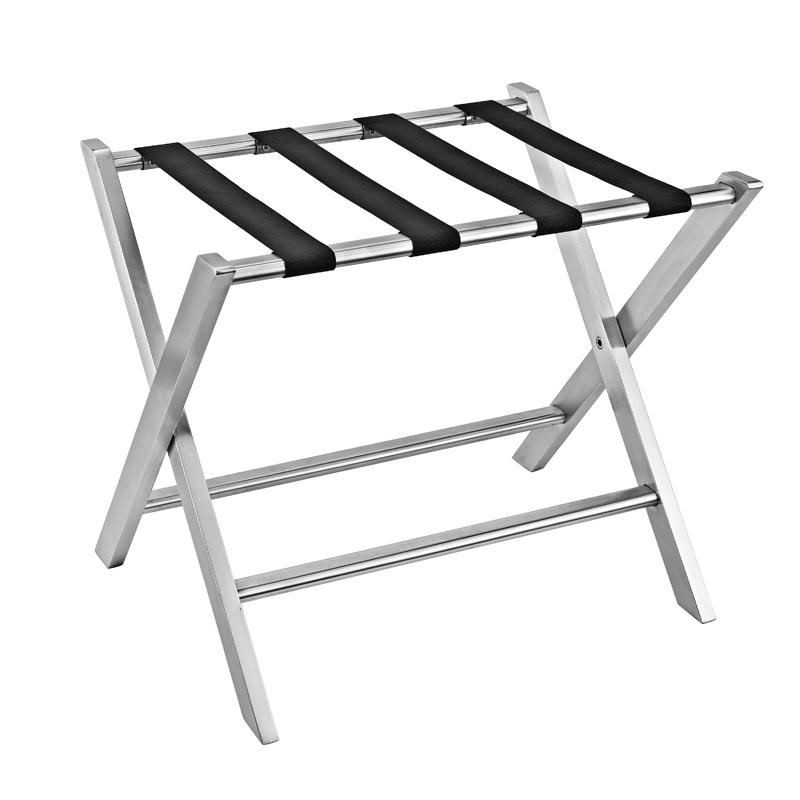 Hotel stainless steel 201 folding luggage rack luggage stand