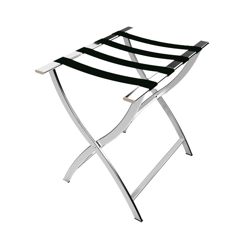Hotel room 201 stainless steel folding silver luggage rack stand