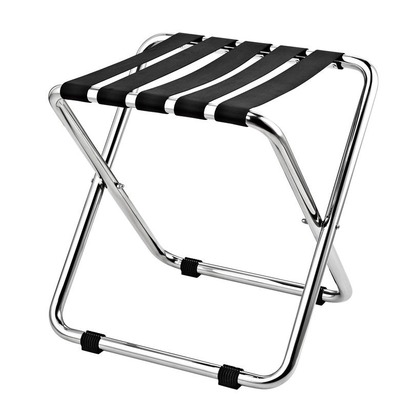 Hot selling hotel stainless steel folding luggage stand rack