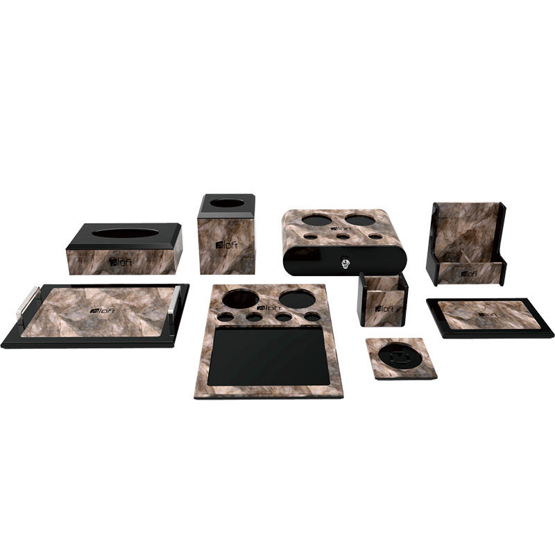 High quality hotel brown acrylic a4 paper tray acrylic shelves acrylic products