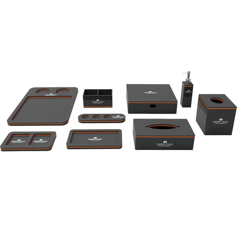 Hotel supplies acrylic bathroom accessories sets