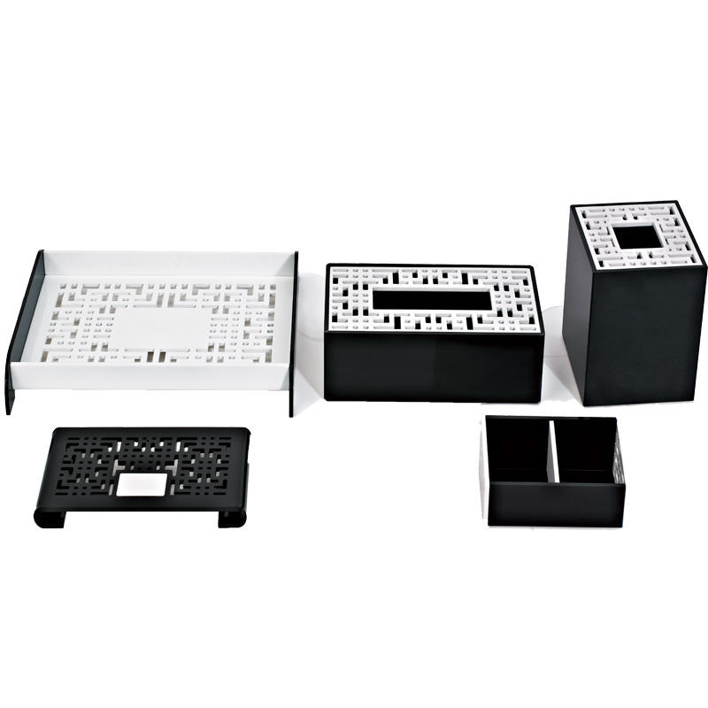 Hotel black and white acrylic room accessories products acrylic box display