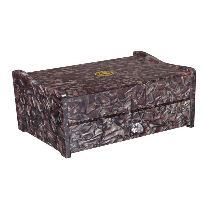 Hotel display custom two drawers acrylic consumable box acrylic storage box