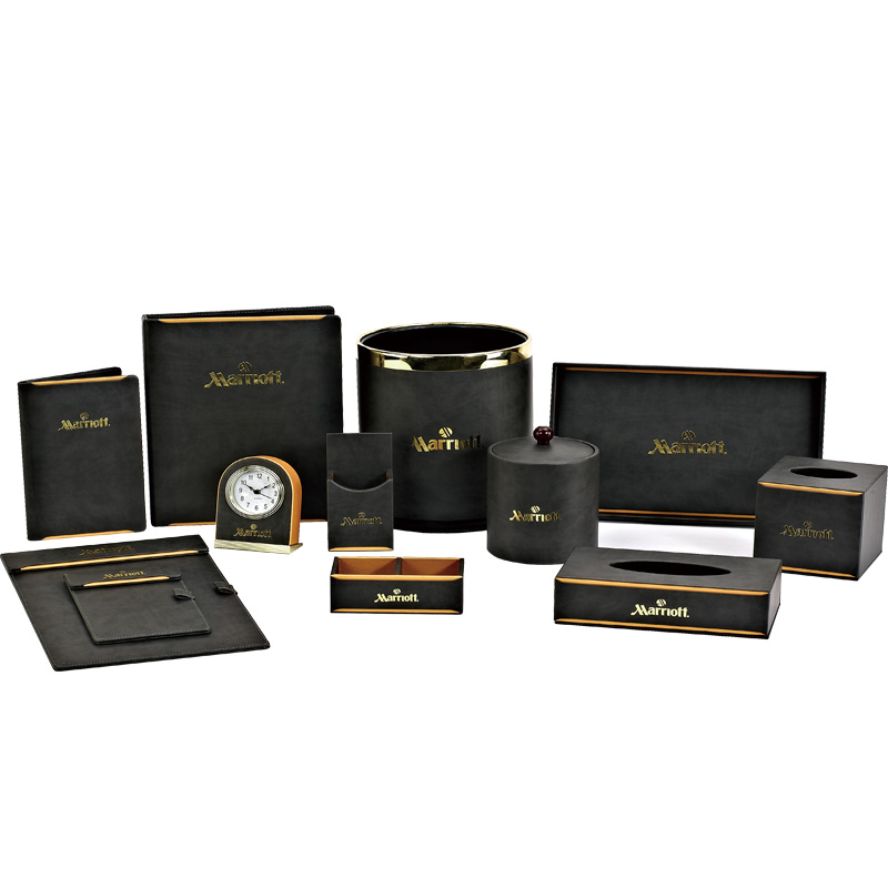 Fenghe-Hotel Guest Room Golden Leather Products ,hotel Leather Menu Cover,restaurant