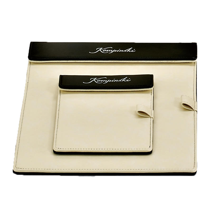 Hotel white leather product series, leather folder, restaurant menu cover