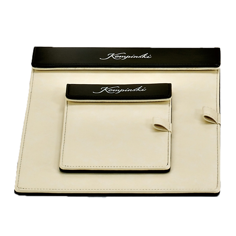 Fenghe-Hotel White Leather Product Series, Leather Folder, Restaurant Menu Cover-1