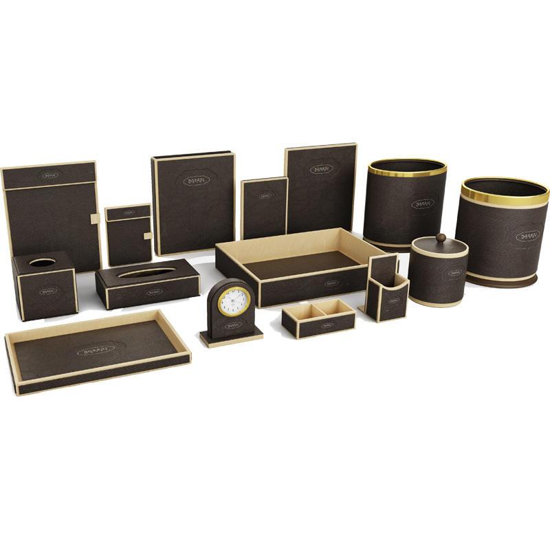 Hotel dark brown leather products, A4 menu folder, restaurant menu cover