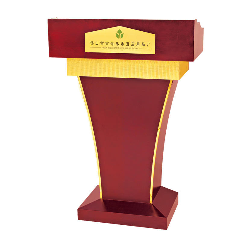 Hotel wooden design rostrum podium lectern