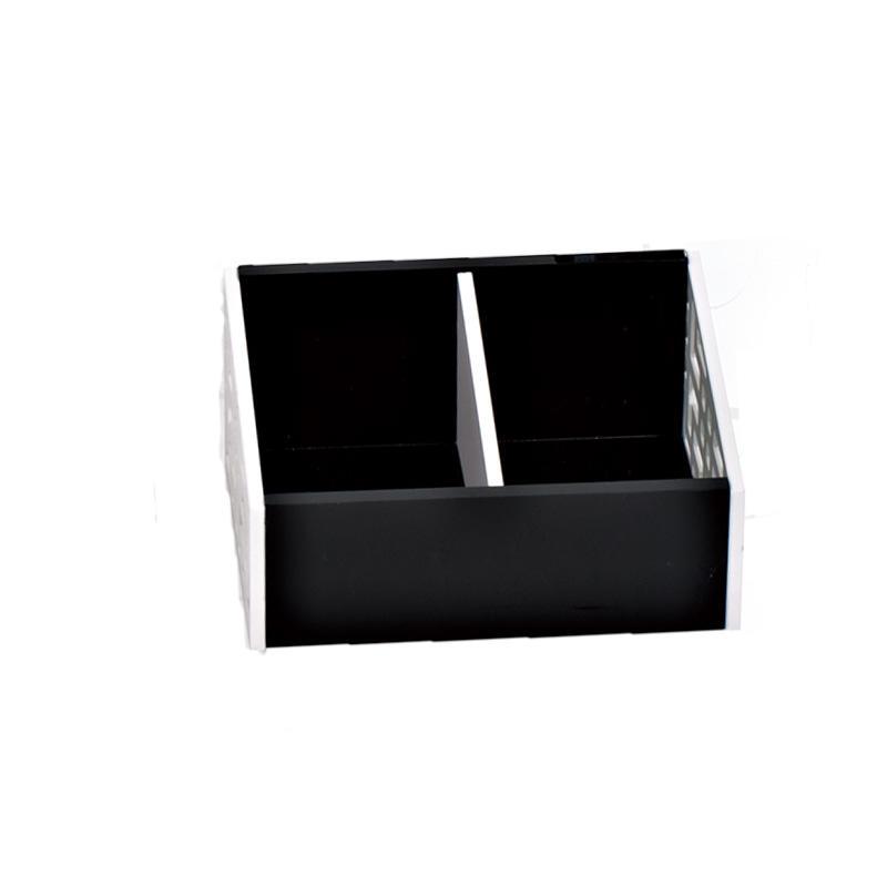 Manufacture hotel room 2 compartments acrylic tea box