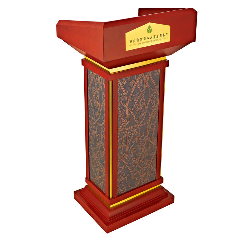 Hotel wooden lectern rostrum pulpit podium for church