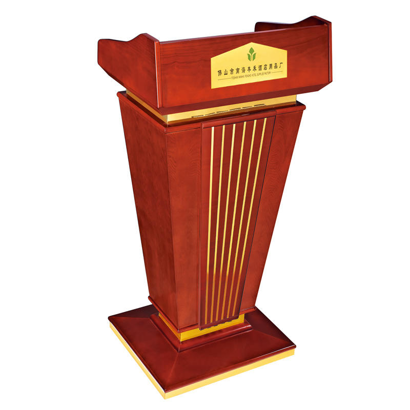 Hotel wooden red rostrum lectern church pulpit podium