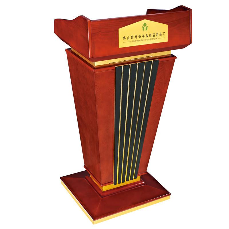 Manufacturer supply hotel wooden rostrum church podium