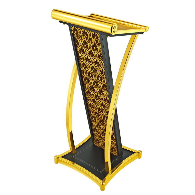 Hotel metal design rostrum speech lectern podium