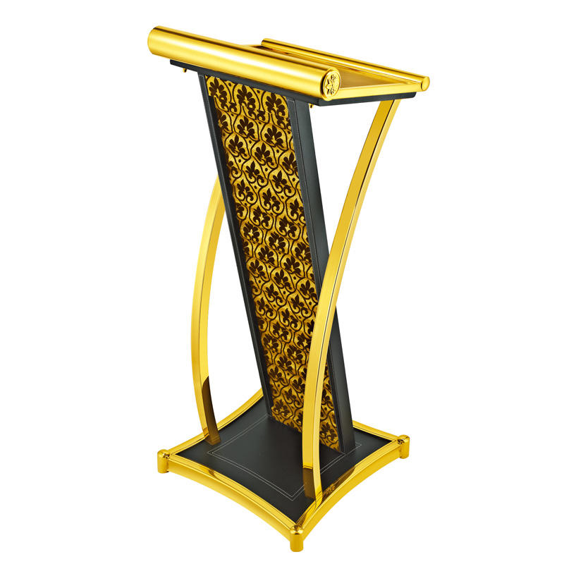 Hotel metal design rostrum speech lectern podium