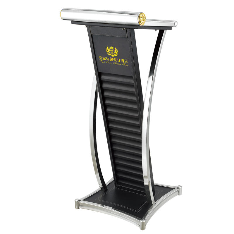 Custom size stainless steel hotel lectern pulpit podium