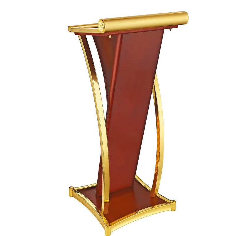Hotel metal design rostrum lectern podium