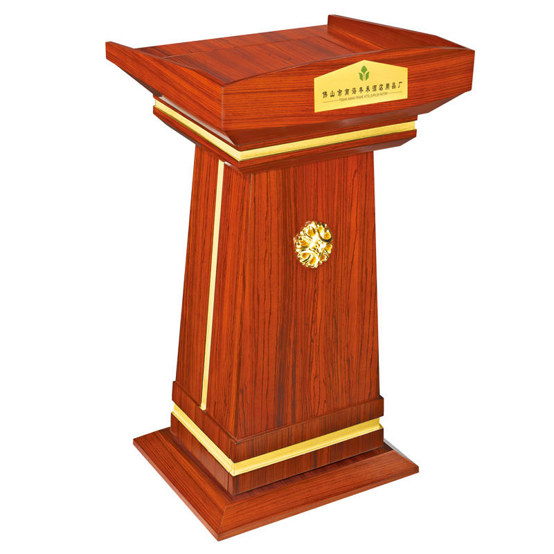 Hotel supply wooden red cherry rostrum speech lectern podium