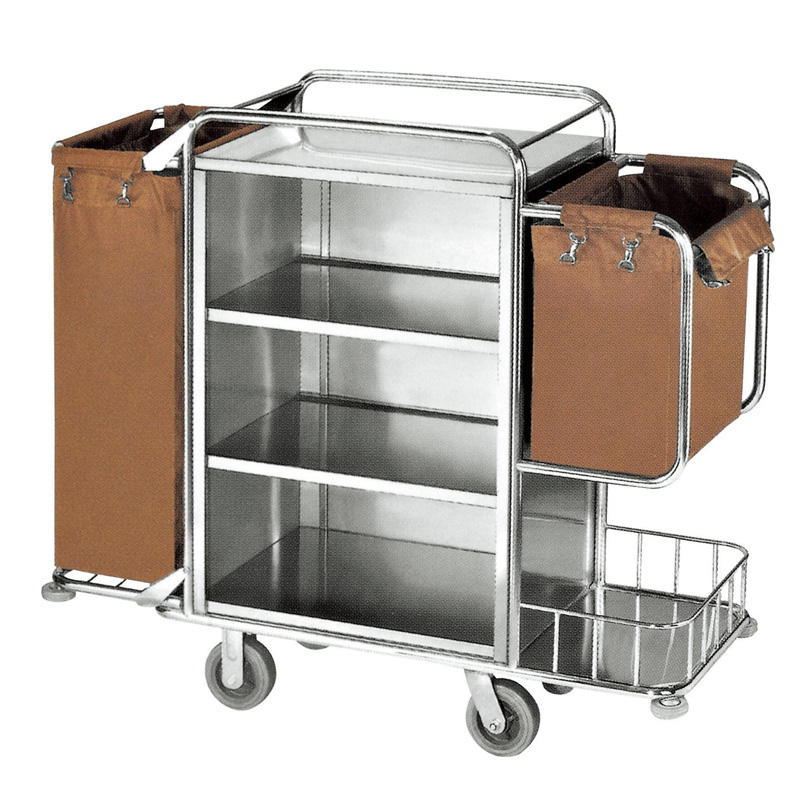 Hotel housekeeping cleaning trolley service maid's cart
