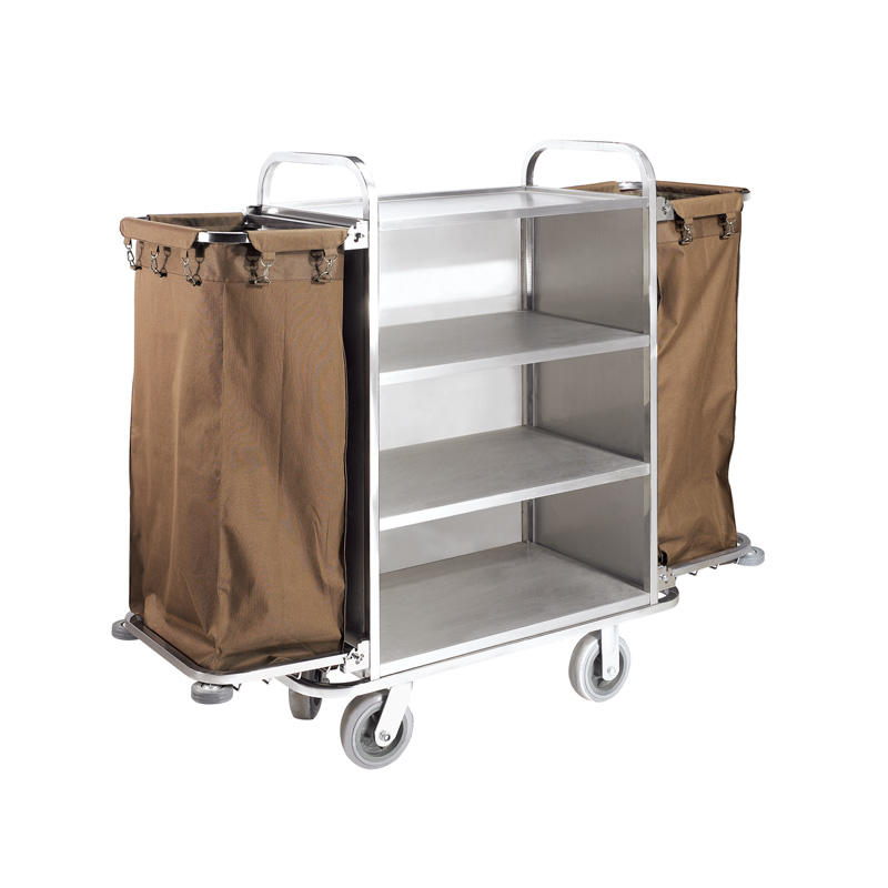 Hotel room equipment metal housekeeping cleaning maid cart