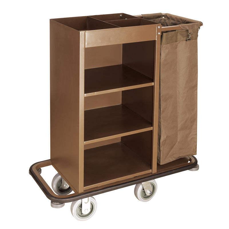 Hotel housekeeping cleaning service trolley maid cart