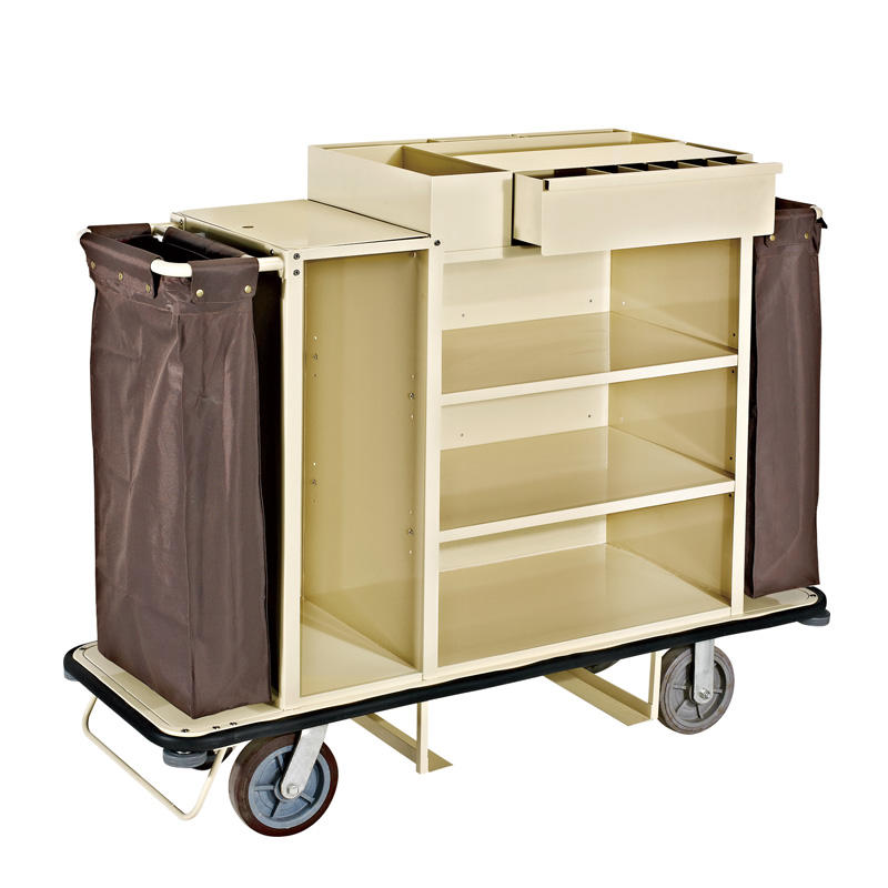Hotel room equipment housekeeping serving maid cart trolley