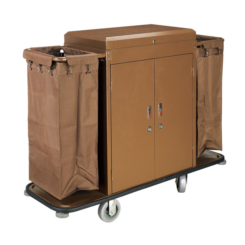 Hotel housekeeping cleaning trolley maid service cart