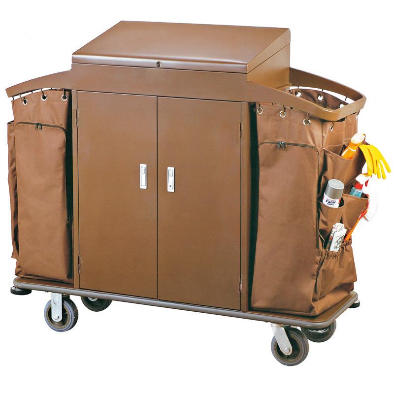 Hotel housekeeping cleaning trolley maid cart