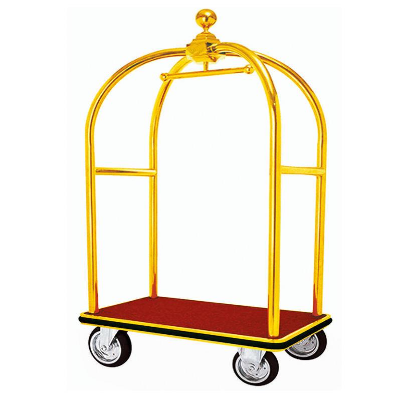 Hotel golden luggage trolley bellman trolley