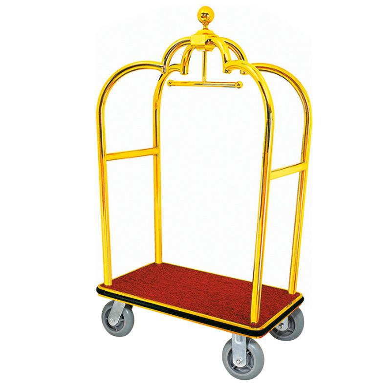 Golden steel hotel crown luggage luggage trolley bellman trolley