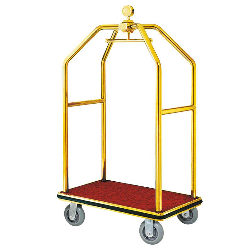 Hotel golden luggage cart bellman trolley